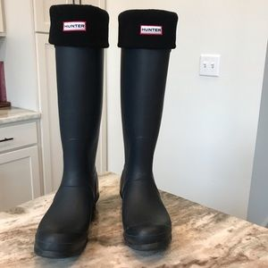 Hunter Original Tall Rainboots 9 W/ Hunter Socks!